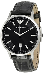 Emporio Armani Dress Musta/Nahka Ø43 mm AR2411