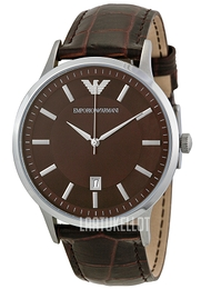 Emporio Armani Dress Ruskea/Nahka Ø43 mm AR2413