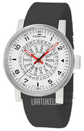 Fortis Spacematic Valkoinen Kumi Ø40 mm 623.10.52.Si01 0fe75fad0a