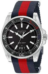 Gucci Dive Musta Tekstiili Ø45 mm YA136210 672bead249