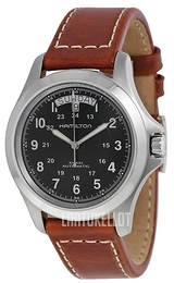 Hamilton Khaki Field King Automatic Musta/Nahka Ø40 mm H64455533