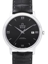 Omega De Ville Prestige Co-Axial 39.5mm Musta/Nahka Ø39.5 mm 424.13.40.20.01.001