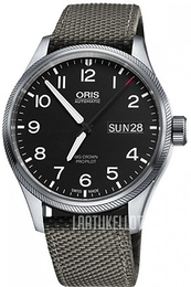 Oris Oris Aviation Musta/Tekstiili Ø45 mm 01 752 7698 4164-07 5 22 17FC
