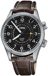 Oris Aviation Musta/Nahka Ø44 mm 01 910 7745 4084-Set LS