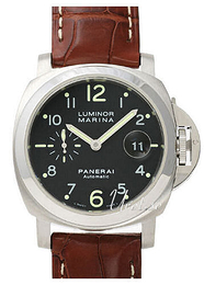 Panerai Contemporary Luminor Marina Automatic Musta/Nahka Ø44 mm PAM 164