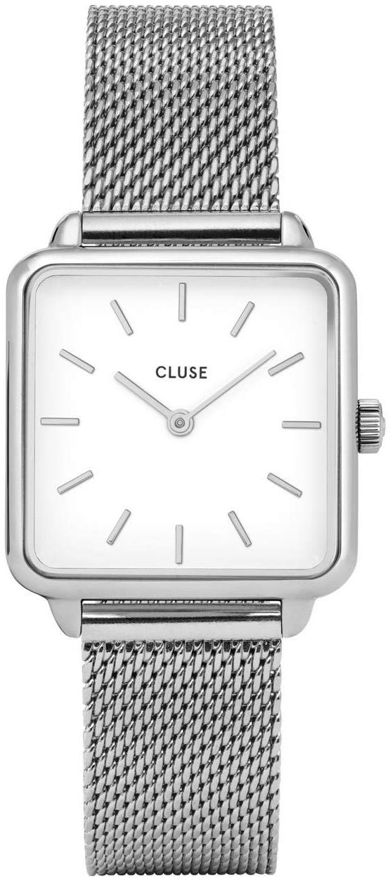 Cluse La Tetragone Naisten kello CL60001 Valkoinen/Teräs