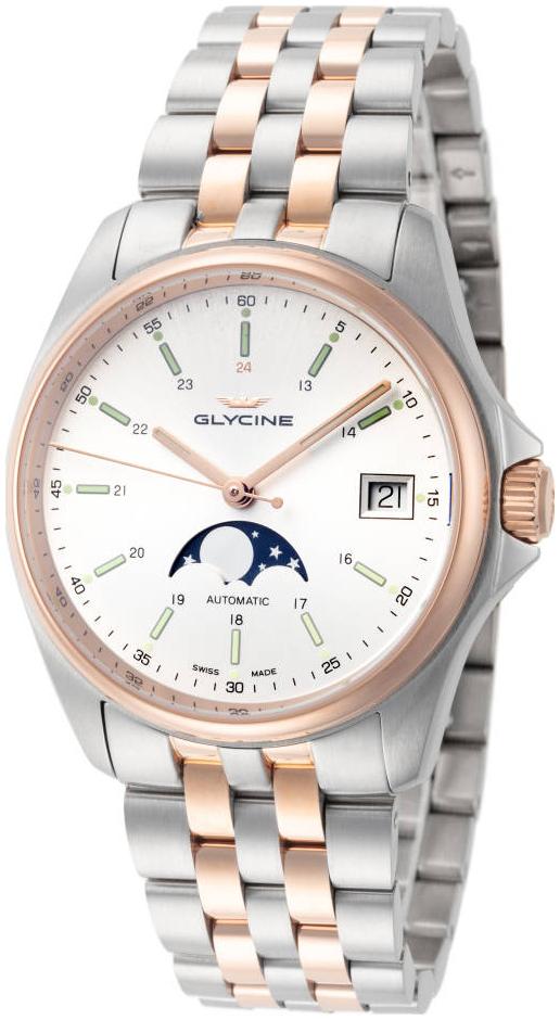 Glycine Combat Miesten kello GL0194 Hopea/Punakultasävyinen Ø36 mm