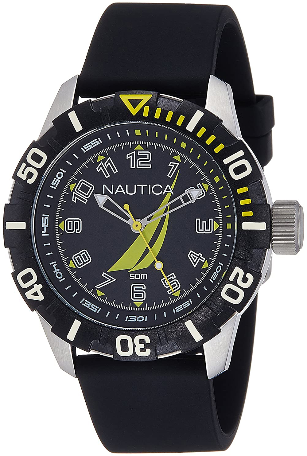 Nautica Analog Miesten kello NAI08513G Musta/Kumi Ø44 mm