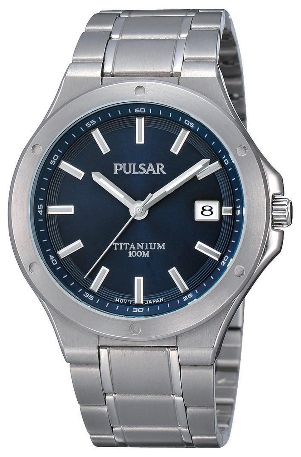Pulsar Sport Miesten kello PS9123X1 Sininen/Titaani Ø40 mm