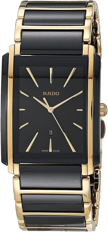 Rado Integral Miesten kello R20204162 Musta/Kullansävytetty teräs