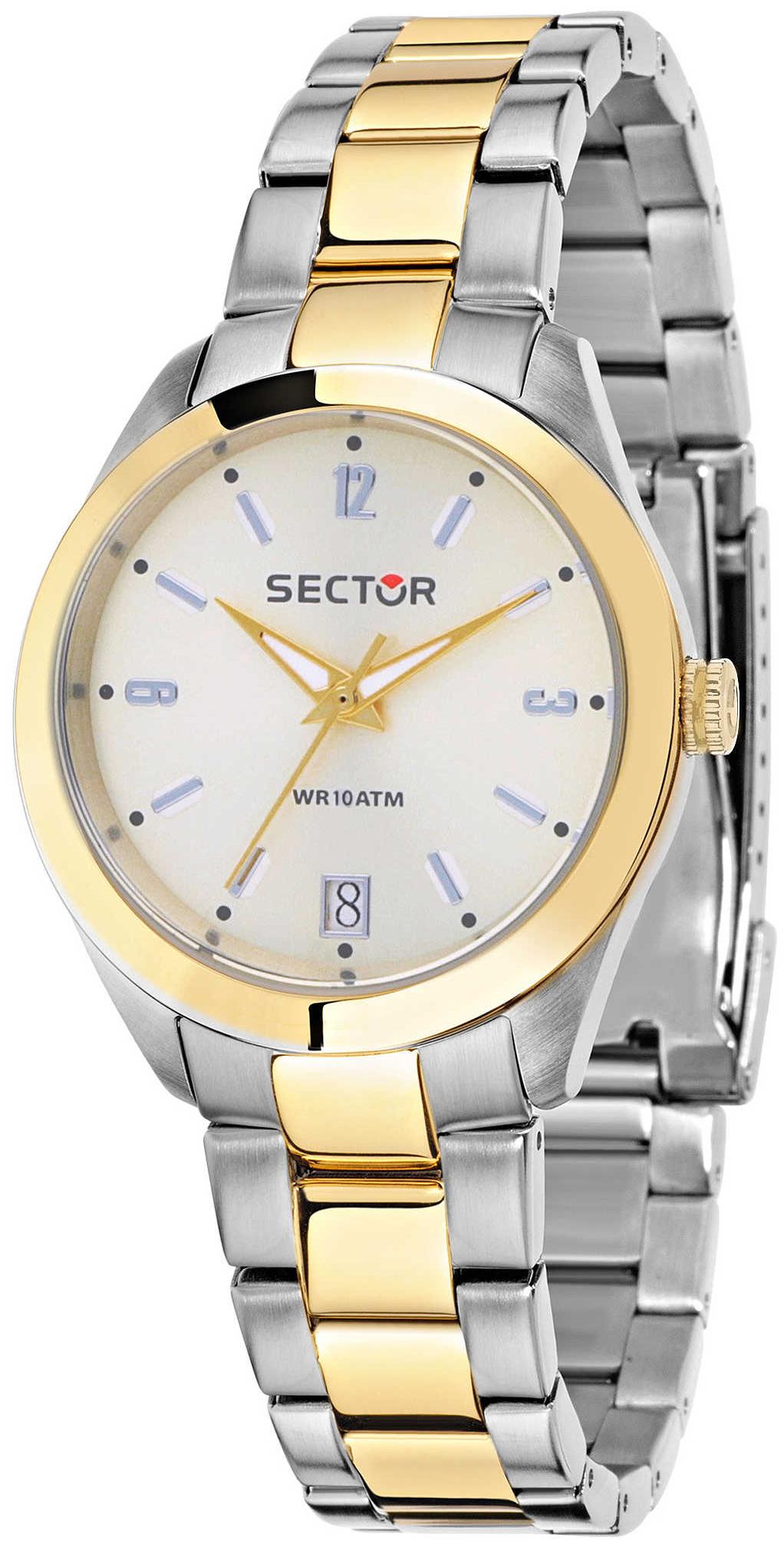 Sector 99999 Naisten kello R3253486501 Valkoinen/Kullansävytetty