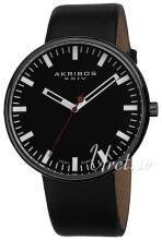 Akribos XXIV Essential Musta/Nahka Ø43 mm