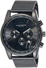 Akribos XXIV Chronograph Musta/Teräs Ø45 mm