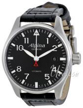 Alpina Startimer Musta/Nahka Ø40 mm
