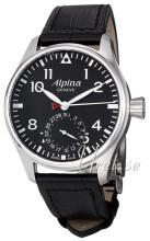 Alpina Startimer Musta/Nahka Ø44 mm