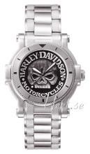 Bulova Harley-Davidson Musta/Teräs