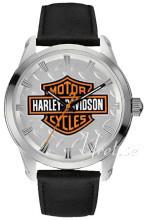 Bulova Harley-Davidson Hopea/Nahka