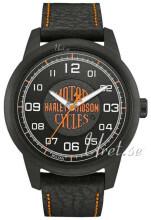 Bulova Harley-Davidson Musta/Nahka