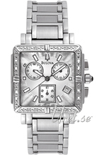 Bulova Marine Star Ladies Chronograph Diamond Silver Dial