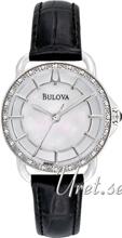 Bulova Diamond Valkoinen/Nahka Ø30 mm
