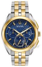 Bulova Bracelet Sininen/Kullansävytetty teräs