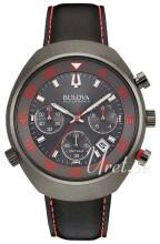 Bulova Accutron Musta/Nahka Ø45 mm