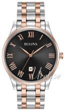 Bulova Bracelet Musta/Punakultasävyinen Ø40 mm