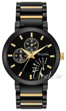 Bulova Bracelet Musta/Kullansävytetty teräs Ø45 mm