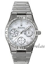 Bulova Diamonds Ladies Chronograph MOP Dial