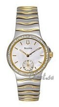 Bulova Diamonds Ladies Two Tone MOP Dial