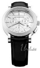 Burberry Heritage Chronograph Silver Dial Leather