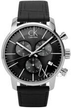 Calvin Klein City Chronograph Musta/Nahka