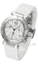 Cartier Pasha Seatimer Lady Chronograph Hopea/Teräs Ø37 mm