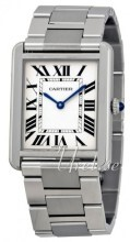 Cartier Tank Solo Large Hopea/Teräs 34.8x27.4 mm