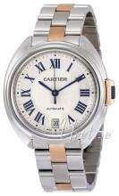 Cartier Calibre De Cartier Hopea/18K punakultaa Ø35 mm