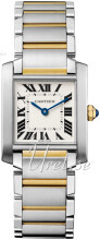 Cartier Tank Francaise Hopea/18K keltakultaa