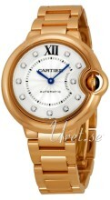 Cartier Ballon Blue Hopea/18K punakultaa Ø33 mm