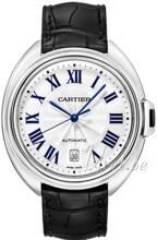 Cartier Calibre de Cartier Valkoinen/Nahka Ø40 mm
