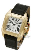 Cartier Santos Santos 100 Hopea/Nahka 32x32 mm