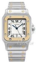 Cartier Santos de Cartier Large Valkoinen/Teräs 29x29 mm