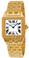 Cartier Santos Demoiselle Yellow Gold Silver Dial