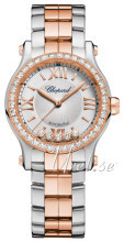 Chopard Happy Sport 30 MM Automatic Hopea/18K punakultaa Ø30 mm