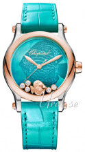 Chopard Happy Fish 36 MM Automatic Sininen/Nahka Ø36 mm