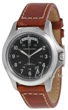 Hamilton Khaki Field King Automatic Musta/Nahka Ø40 mm