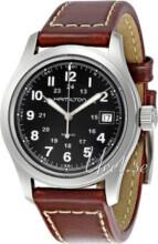 Hamilton Khaki Chronograph Musta/Nahka Ø42 mm