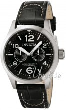 Invicta I-Force Military Musta/Nahka