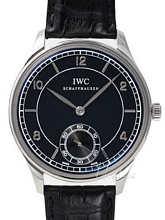 IWC Vintage Collection Portuguese Hand-Wound Musta/Nahka Ø44 mm