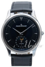 Jaeger LeCoultre Master Ultra Thin Moon Stainless Steel Musta/Na