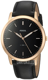 Fossil Dress Musta/Nahka Ø44 mm FS5376