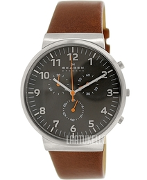 Skagen Ancher Harmaa/Nahka Ø40 mm SKW6099